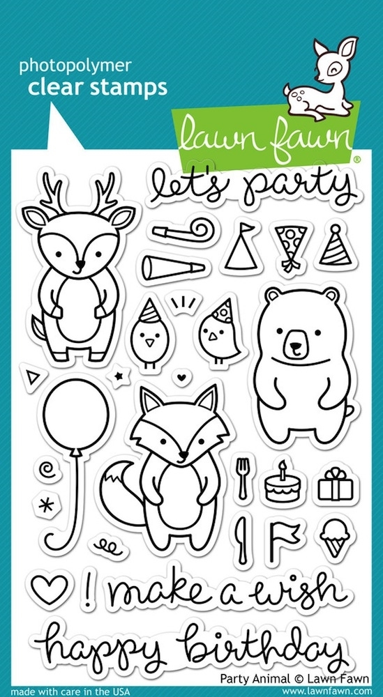 Lawn Fawn PARTY ANIMAL Clear Stamps LF893 zoom image