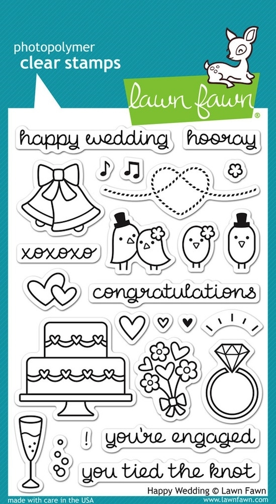 Lawn Fawn HAPPY WEDDING Clear Stamps LF887 zoom image