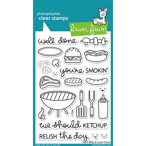 Lawn Fawn LETS BBQ Clear Stamps LF889 Preview Image