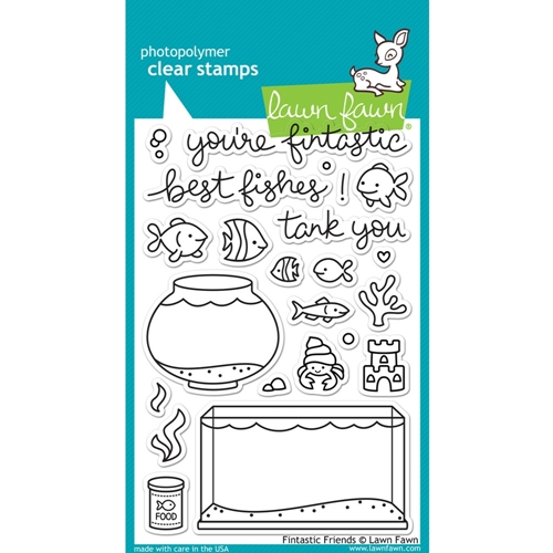 Lawn Fawn FINTASTIC FRIENDS Clear Stamps LF891 Preview Image