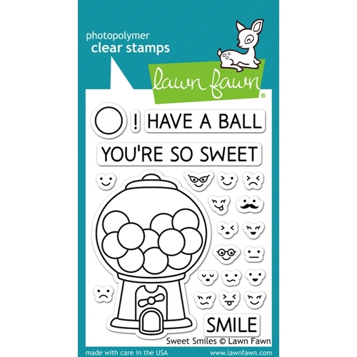 Lawn Fawn SWEET SMILES Clear Stamps LF895 Preview Image