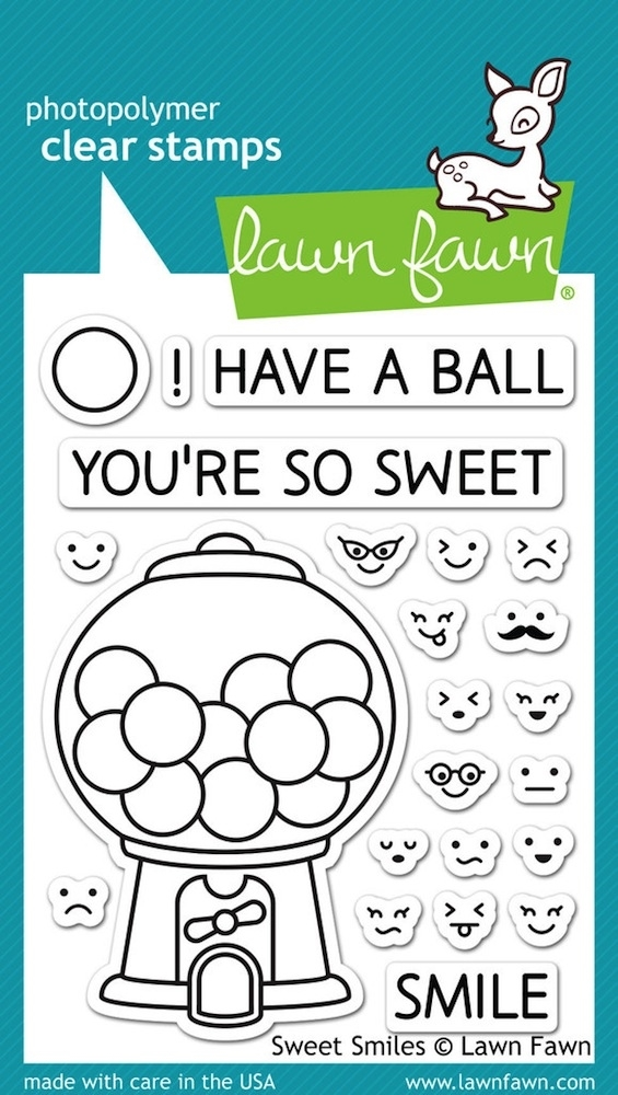 Lawn Fawn SWEET SMILES Clear Stamps LF895 zoom image