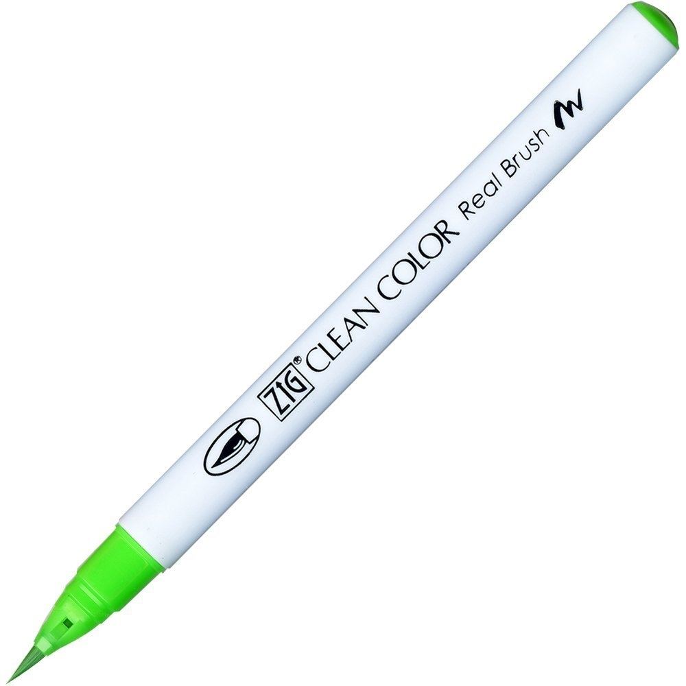 Zig Clean Color Real Brush Marker FLUORESCENT GREEN RB6000AT004 zoom image