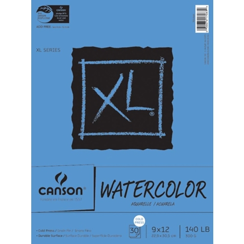 Canson XL WATERCOLOR PAPER 9x12 140lb Pad 726259 Preview Image