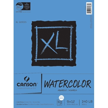 Canson XL WATERCOLOR PAPER 9x12 140lb Pad 726259
