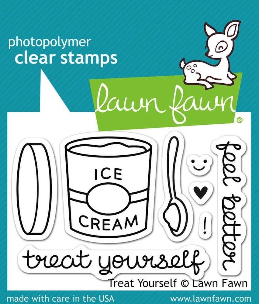 Lawn Fawn TREAT YOURSELF Clear Stamps LF897 zoom image