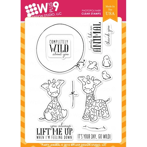 Wplus9 PARTY ANIMAL Clear Stamps CLWP9PA Preview Image