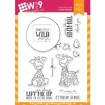 Wplus9 PARTY ANIMAL Clear Stamps CLWP9PA