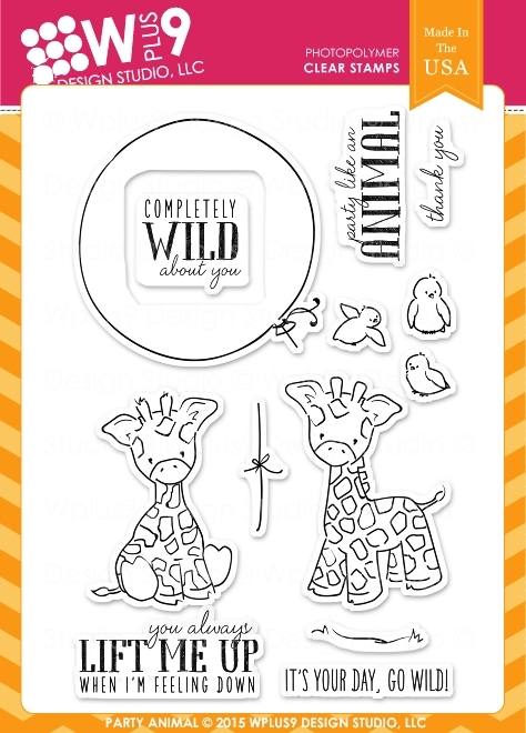 Wplus9 PARTY ANIMAL Clear Stamps CLWP9PA zoom image