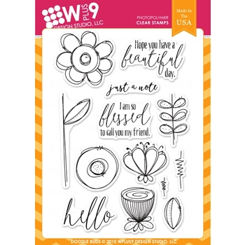 Wplus9 DOODLE BUDS Clear Stamps CLWP9DOBU