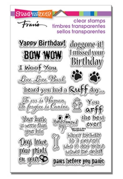 Stampendous Clear Stamps DOG SAYINGS SSC1223 zoom image