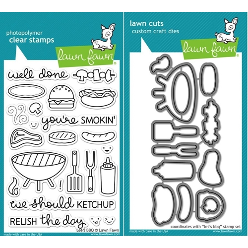 Lawn Fawn Set LF15BBQ RELISH THE DAY Clear Stamps and Dies* Preview Image