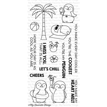 My Favorite Things PENGUINS IN PARADISE Clear Stamps MFT BB20