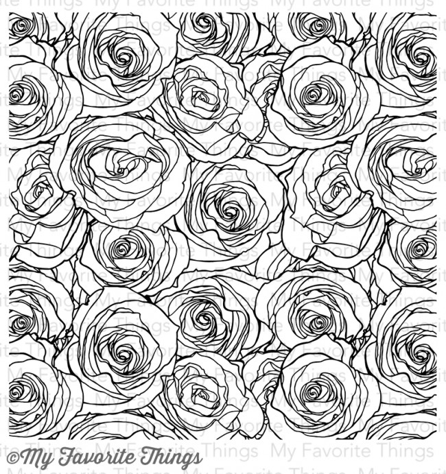 My Favorite Things ROSES ALL OVER BACKGROUND Cling Stamp MFT BG44 zoom image