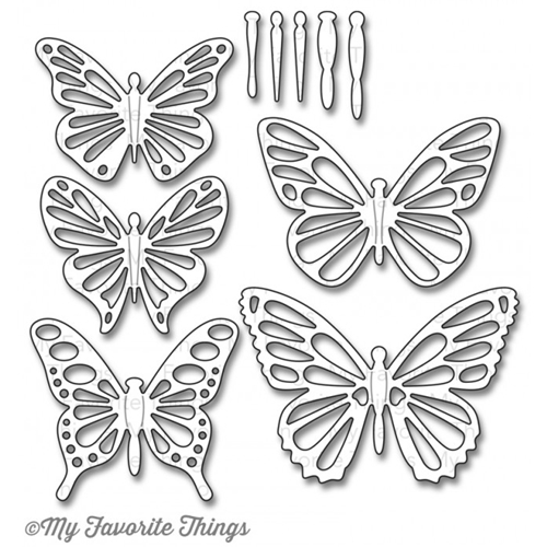 My Favorite Things LACE FLUTTER OF BUTTERLFIES Die-Namics MFT704 Preview Image
