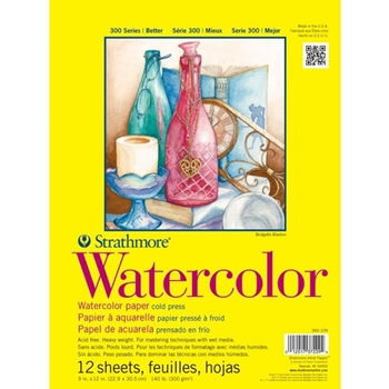 Strathmore WATERCOLOR 9x12 PAD 12 Sheets 360109