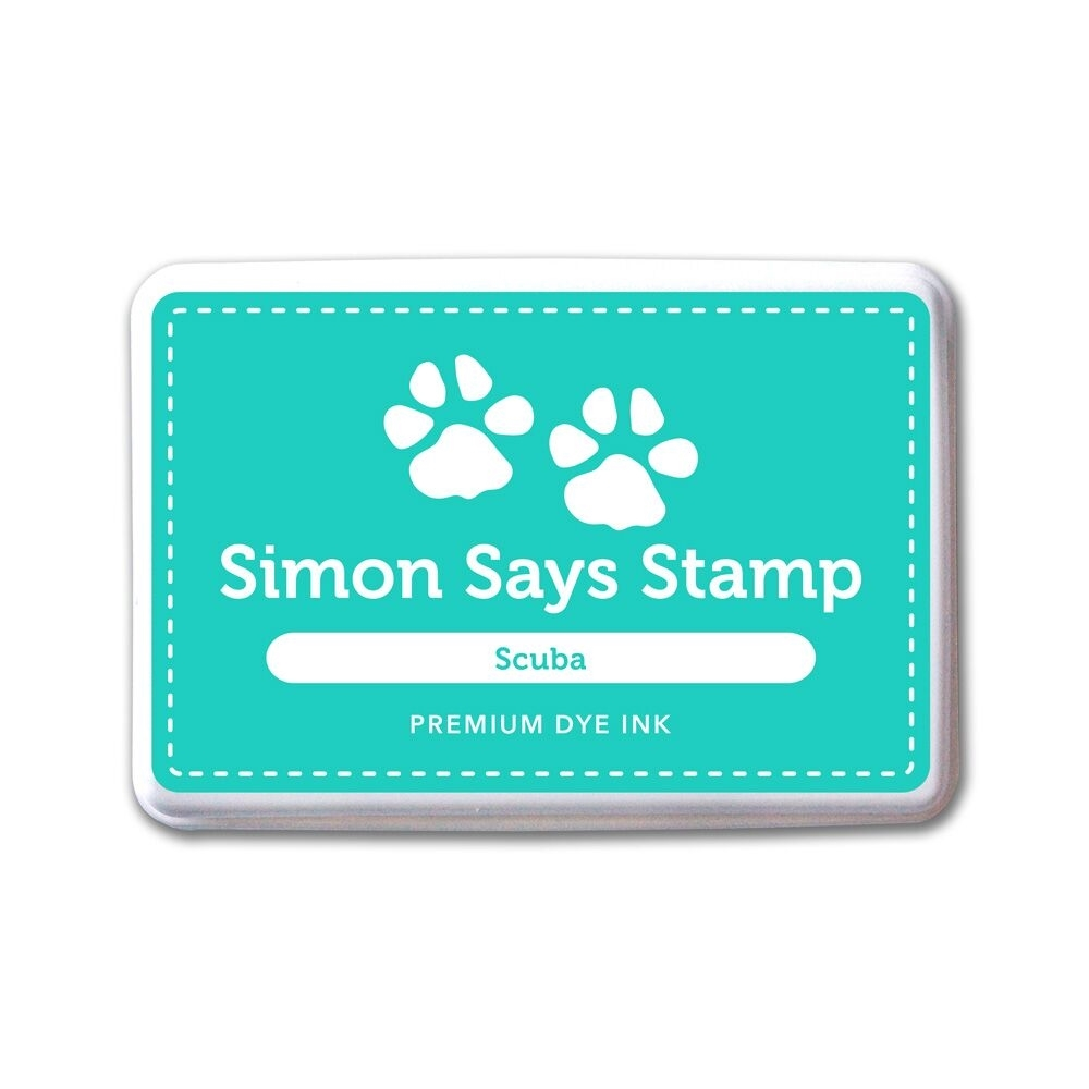 Simon Says Stamp Premium Dye Ink Pad SCUBA ink043 The Color of Fun zoom image