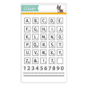 Simon Says Clear Stamps GAME TILE LETTERS sss101518