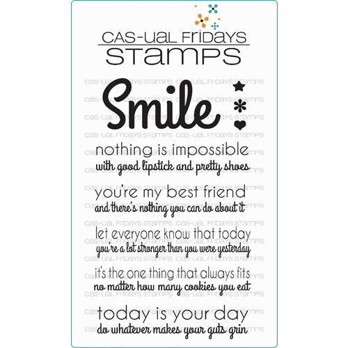 CAS-ual Fridays SASSY SMILES Clear Stamps CFS15009 Preview Image