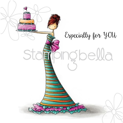Stamping Bella Cling Stamp UPTOWN GIRL BRITTANY THE BIRTHDAY GIRL Rubber UM eb311 zoom image