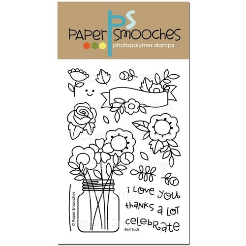 Paper Smooches BEST BUDS Clear Stamps J3S248 Preview Image