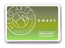 Hero Arts Ombre LIME TO FOREVER GREEN Ink Pad AF320 Preview Image
