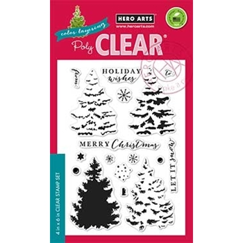 Hero Arts Clear Stamps COLOR LAYERING CHRISTMAS TREE CL887