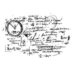 Tim Holtz Rubber Stamp CHEMISTRY NOTES P4-2189 Preview Image