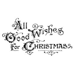 Tim Holtz Rubber Stamp GOOD WISHES P5-2205 Preview Image