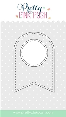 Pretty Pink Posh STITCHED BANNER DUO 2 Steel Craft Die* Preview Image
