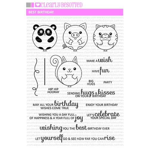 Clearly Besotted BEST BIRTHDAY Clear Stamp Set  Preview Image