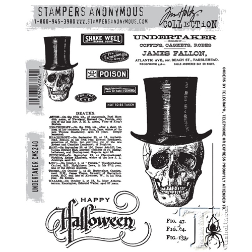 Tim Holtz Cling Rubber Stamps UNDERTAKER CMS240 Preview Image