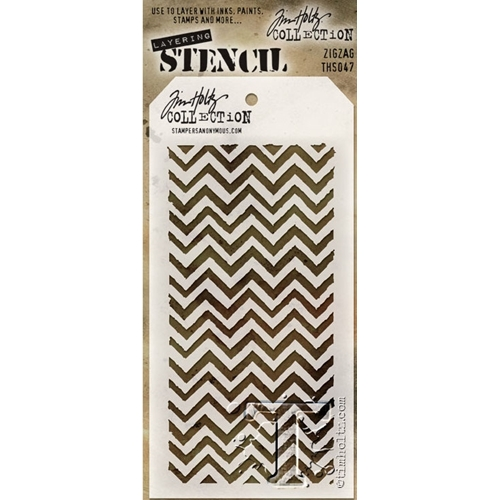 Tim Holtz Layering Stencil ZIGZAG THS047 Preview Image