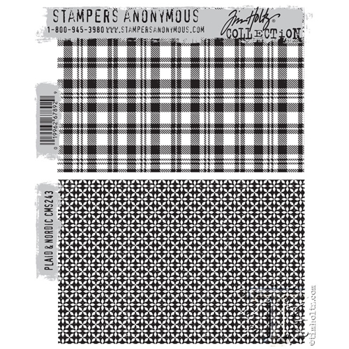 Tim Holtz Cling Rubber Stamp PLAID and NORDIC CMS243 Preview Image