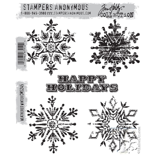 Tim Holtz Cling Rubber Stamps  WEATHERED WINTER CMS245 Preview Image