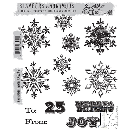 Tim Holtz Cling Rubber Stamps  MINI WEATHERED WINTER CMS246 Preview Image