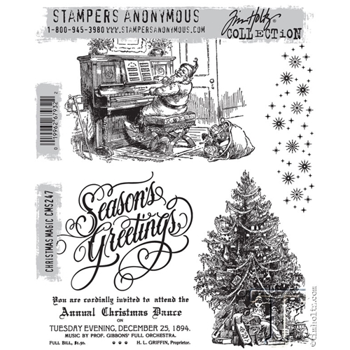 Tim Holtz Cling Rubber Stamps CHRISTMAS MAGIC CMS247 Preview Image