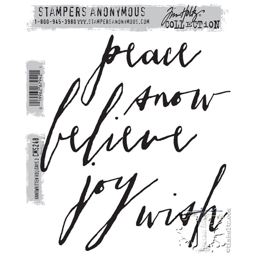 Tim Holtz Cling Rubber Stamps  HANDWRITTEN HOLIDAYS 3 CMS248 Preview Image