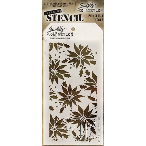 Tim Holtz Layering Stencil POINSETTIA THS049 Preview Image