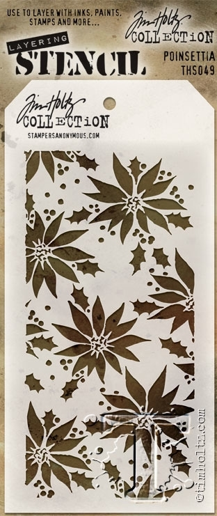 Tim Holtz Layering Stencil POINSETTIA THS049 zoom image