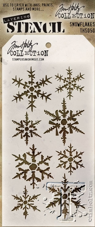 Tim Holtz Layering Stencil SNOWFLAKES THS050 zoom image