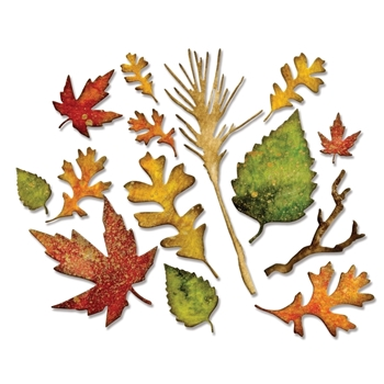 Tim Holtz Sizzix FALL FOLIAGE Thinlits Die 660955