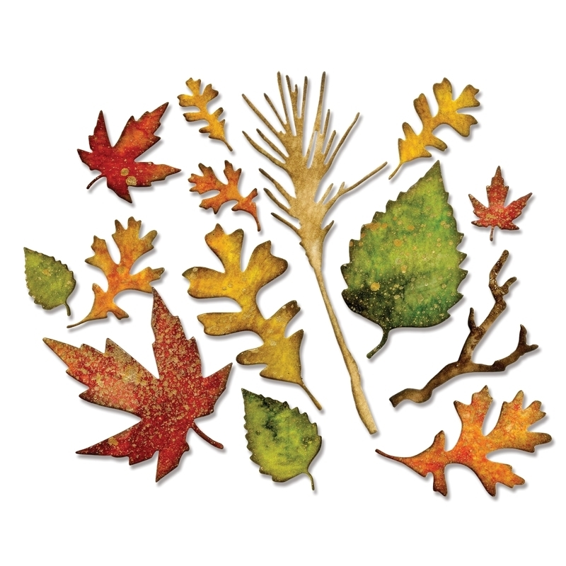 Tim Holtz Sizzix FALL FOLIAGE Thinlits Die 660955 zoom image