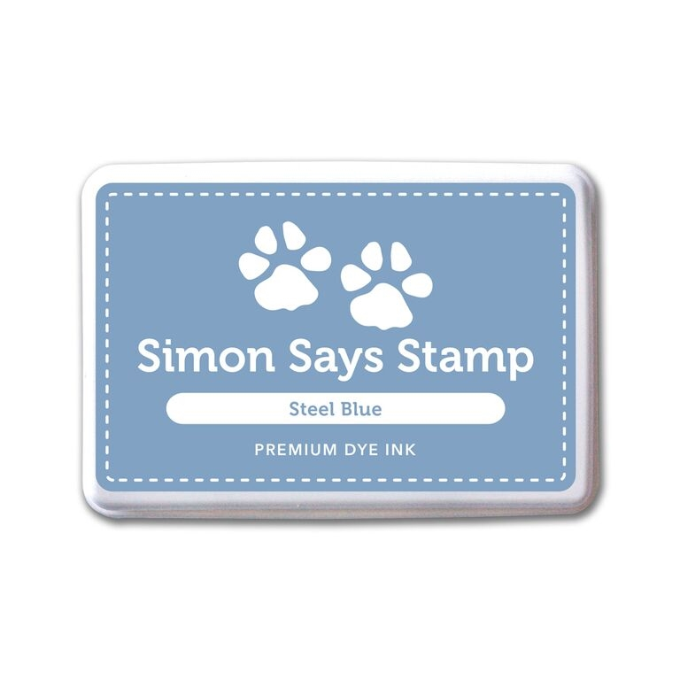 Simon Says Stamp Premium Dye Ink Pad STEEL BLUE ink064 Splash of Color zoom image