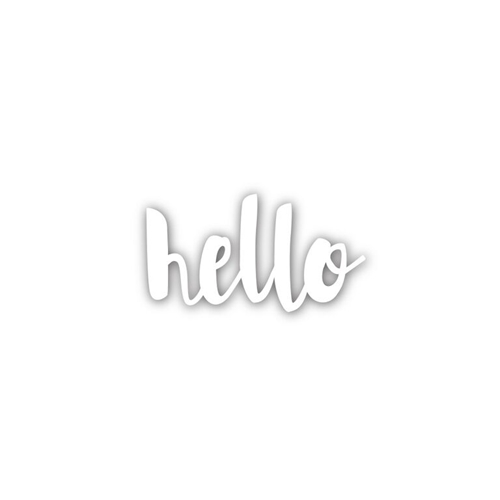 Simon Says Stamp PAINTED HELLO Wafer Die sssd111486 Splash of Color Preview Image