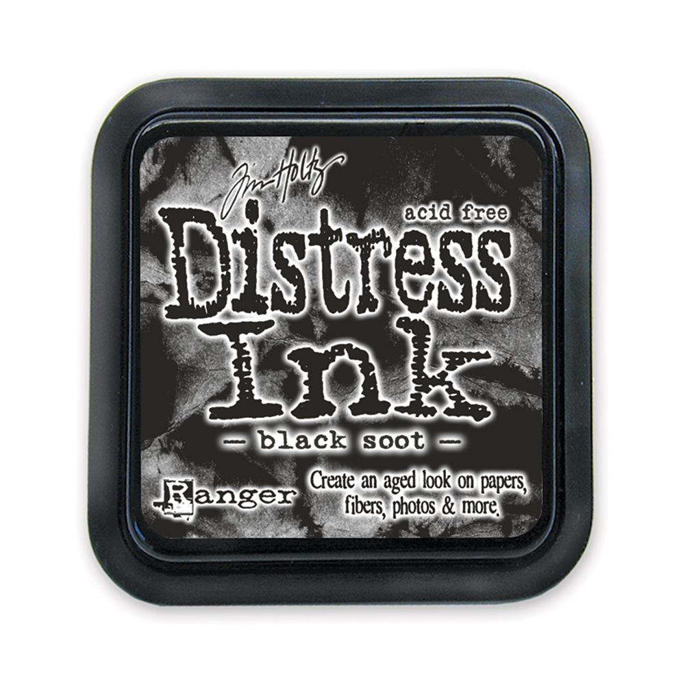 Tim Holtz Distress Ink Pad BLACK SOOT Ranger TIM19541 zoom image