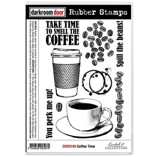 Darkroom Door Cling Stamp COFFEE TIME Rubber UM DDRS149 Preview Image