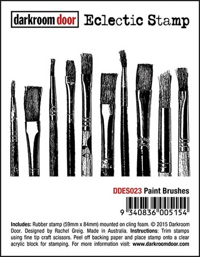 Darkroom Door Cling Stamp PAINT BRUSHES Eclectic Rubber UM DDES023 zoom image