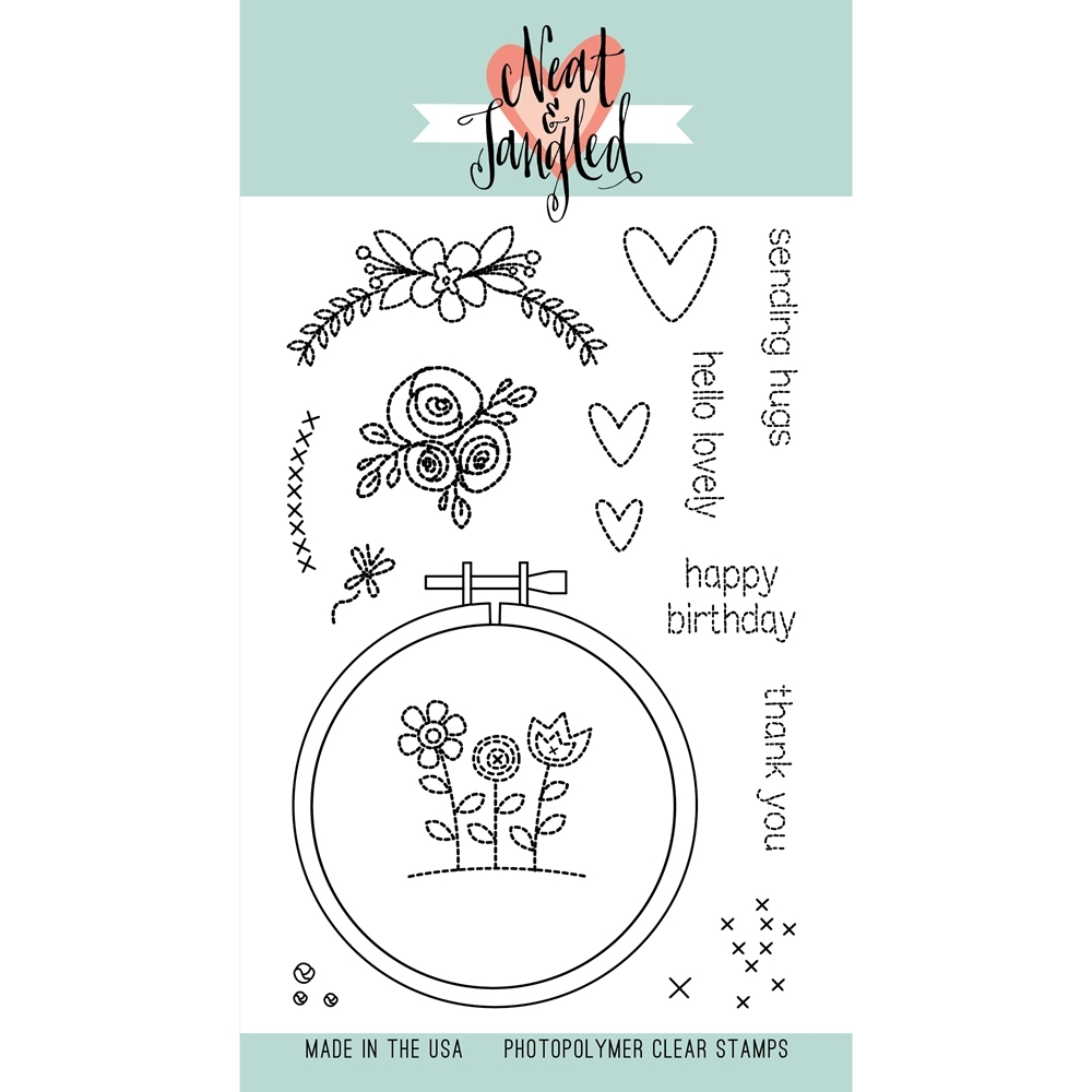 Neat and Tangled HAND STITCHED Clear Stamp Set NAT058* zoom image