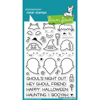 Lawn Fawn BOOYAH Clear Stamps LF932